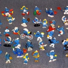 Figuras de Goma y PVC: LOTE PITUFOS PEYO BULLY SIN MARCA GERMANY PORTUGAL HONG KONG 44 FIGURAS. Lote 287976083