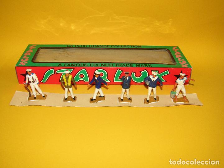 Figuras de Goma y PVC: Antigua Caja Set Completa y a Estrenar Armada MARINA MARINEROS de STARLUX - Año 1960-70s. - Foto 4 - 288039398