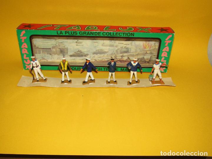 Figuras de Goma y PVC: Antigua Caja Set Completa y a Estrenar Armada MARINA MARINEROS de STARLUX - Año 1960-70s. - Foto 5 - 288039398