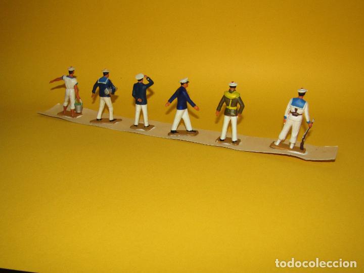 Figuras de Goma y PVC: Antigua Caja Set Completa y a Estrenar Armada MARINA MARINEROS de STARLUX - Año 1960-70s. - Foto 6 - 288039398