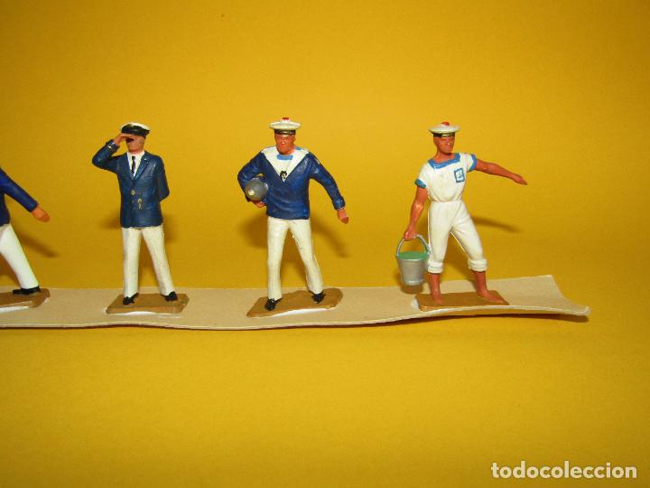 Figuras de Goma y PVC: Antigua Caja Set Completa y a Estrenar Armada MARINA MARINEROS de STARLUX - Año 1960-70s. - Foto 7 - 288039398