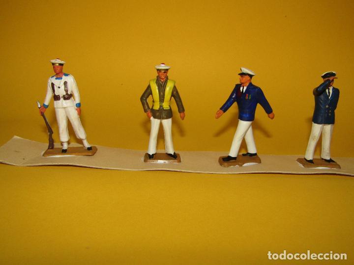 Figuras de Goma y PVC: Antigua Caja Set Completa y a Estrenar Armada MARINA MARINEROS de STARLUX - Año 1960-70s. - Foto 8 - 288039398