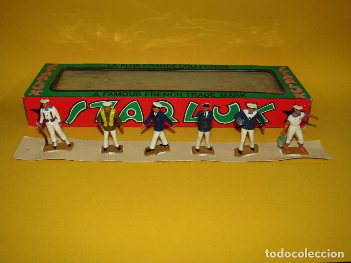 Figuras de Goma y PVC: Antigua Caja Set Completa y a Estrenar Armada MARINA MARINEROS de STARLUX - Año 1960-70s. - Foto 9 - 288039398