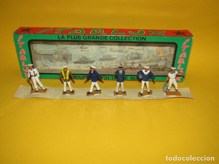 Figuras de Goma y PVC: Antigua Caja Set Completa y a Estrenar Armada MARINA MARINEROS de STARLUX - Año 1960-70s. - Foto 10 - 288039398
