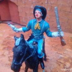 Figuras de Goma y PVC: SOLDADO Y CABALLO DE COMANSI. Lote 288067503