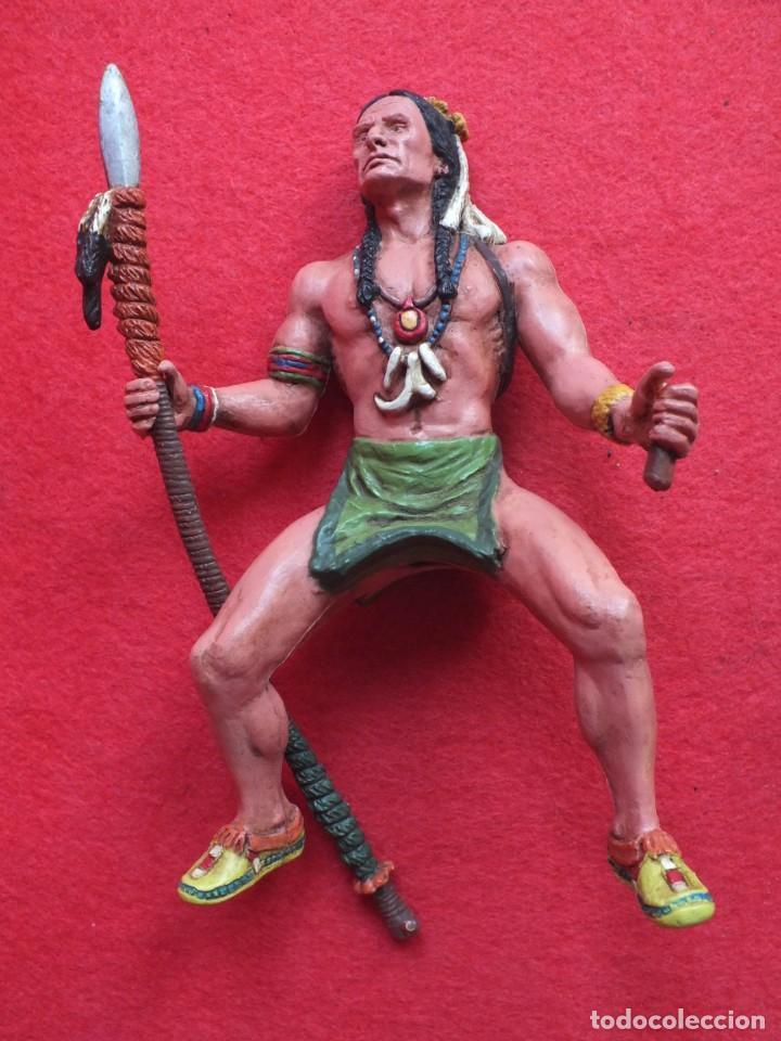 Figuras de Goma y PVC: INDIO A CABALLO COMANSI FIGURA AÑOS 90 MADE IN SPAIN - Foto 4 - 288074453