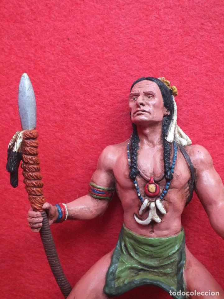 Figuras de Goma y PVC: INDIO A CABALLO COMANSI FIGURA AÑOS 90 MADE IN SPAIN - Foto 5 - 288074453