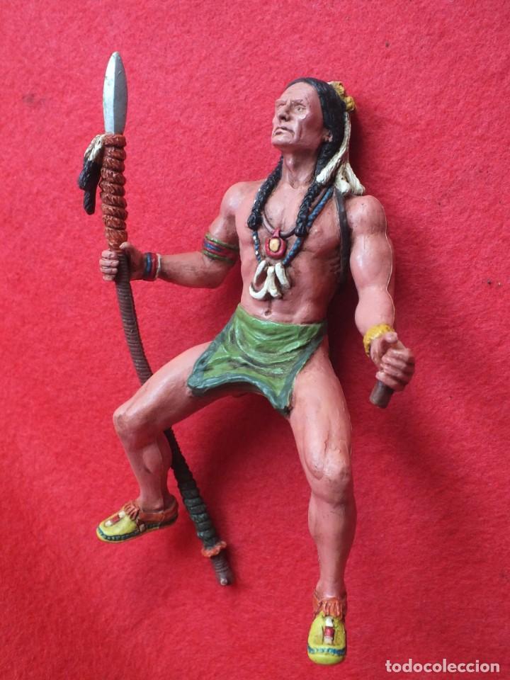 Figuras de Goma y PVC: INDIO A CABALLO COMANSI FIGURA AÑOS 90 MADE IN SPAIN - Foto 6 - 288074453