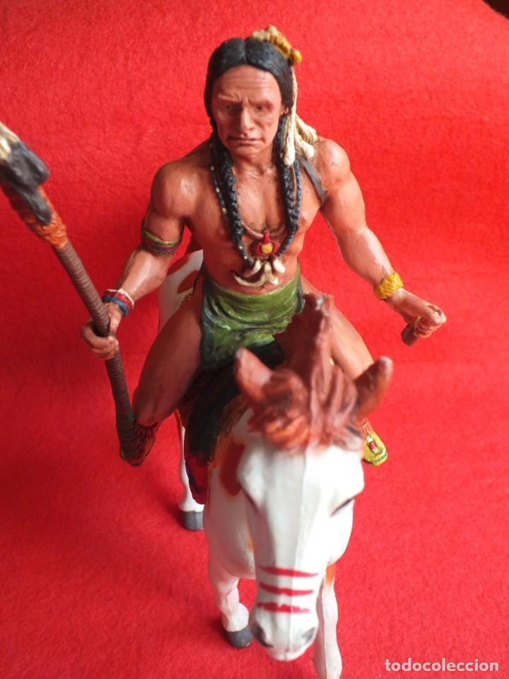 Figuras de Goma y PVC: INDIO A CABALLO COMANSI FIGURA AÑOS 90 MADE IN SPAIN - Foto 10 - 288074453