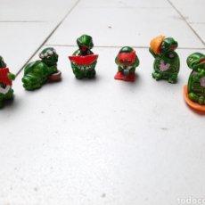 Figuras Kinder: 6 FIGURAS TORTUGAS KINDER. Lote 288093388
