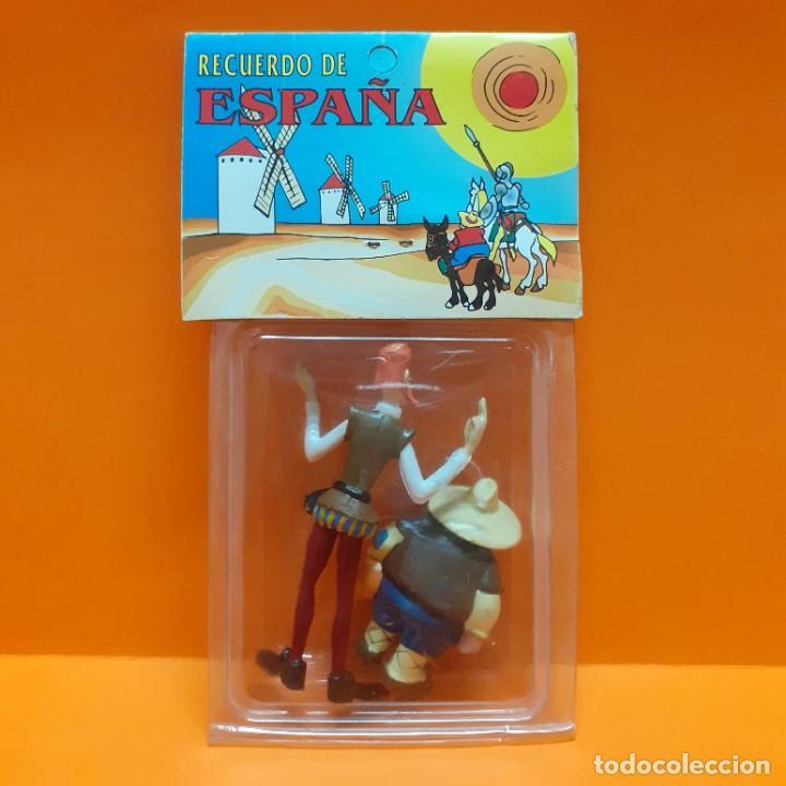 Figuras de Goma y PVC: LOTE FIGURAS PVC DON QUIJOTE Y SANCHO PANZA COMICS SPAIN EURA - BLISTER RECUERDO DE ESPAÑA PROMO - Foto 2 - 288135593