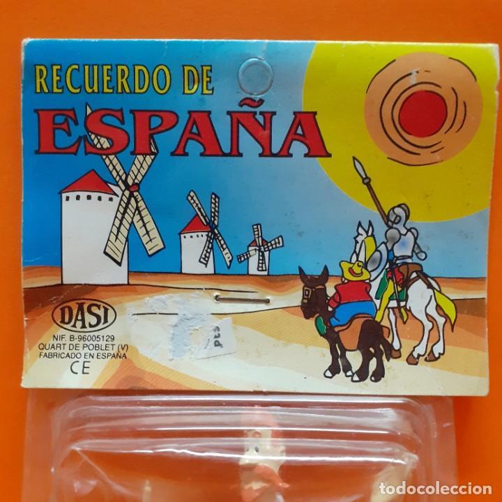 Figuras de Goma y PVC: LOTE FIGURAS PVC DON QUIJOTE Y SANCHO PANZA COMICS SPAIN EURA - BLISTER RECUERDO DE ESPAÑA PROMO - Foto 3 - 288135593