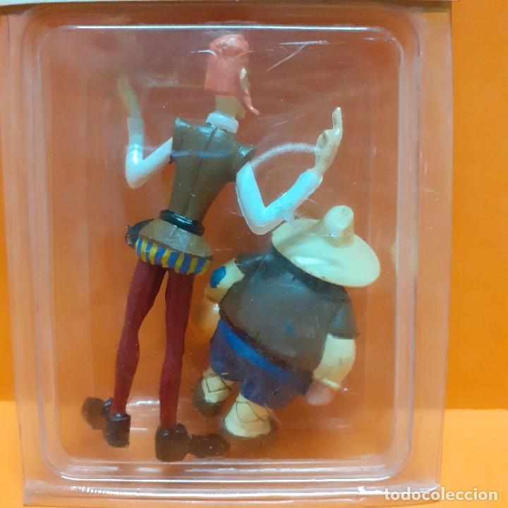Figuras de Goma y PVC: LOTE FIGURAS PVC DON QUIJOTE Y SANCHO PANZA COMICS SPAIN EURA - BLISTER RECUERDO DE ESPAÑA PROMO - Foto 5 - 288135593