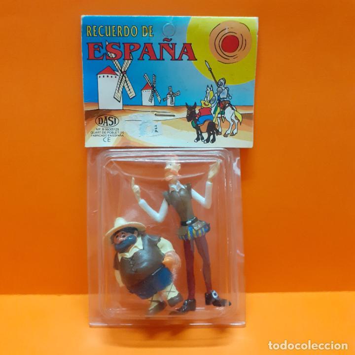 LOTE FIGURAS PVC DON QUIJOTE Y SANCHO PANZA COMICS SPAIN EURA - BLISTER RECUERDO DE ESPAÑA PROMO (Juguetes - Figuras de Goma y Pvc - Comics Spain)