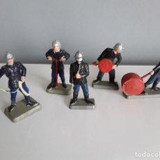 Figuras de Goma y PVC: BOMBEROS, POMPIERS DE STARLUX (FRANCE) AÑOS 60/70, ESCALA PEQUEÑA 35 MM. COMO LOS MARINES DE JECSAN.. Lote 288164648