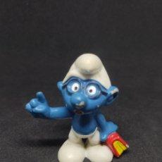 Figuras de Goma y PVC: PITUFO FILOSOFO - BULLY - PEYO - LIBRO. Lote 288222478