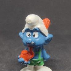 Figuras de Goma y PVC: PITUFO TIROLES PIPA - BULLY - PEYO. Lote 288223648