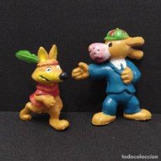 Figuras de Goma y PVC: INSPECTOR DIX Y TRANSFER FIGURAS AÑOS 80 DE LA VUELTA AL MUNDO DE WILLY FOG, BOOTLEG WONILANDIA. Lote 288226303