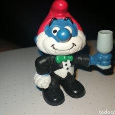 Figuras de Goma y PVC: PITUFO CAMARERO PEYO SCHLEICH. Lote 288226448