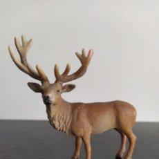 Figuras de Goma y PVC: FIGURA GOMA PVC SCHLEICH SERIE ANIMALES VENADO CIERVO RENO O ALCE 2002. Lote 288313083