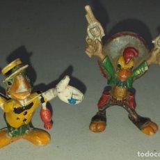 Figuras de Goma y PVC: PECH - JECSAN SERIE WALT DISNEY. PANCHITO PISTOLAS Y JOSÉ CARIOCA DECADA 60. Lote 288313743