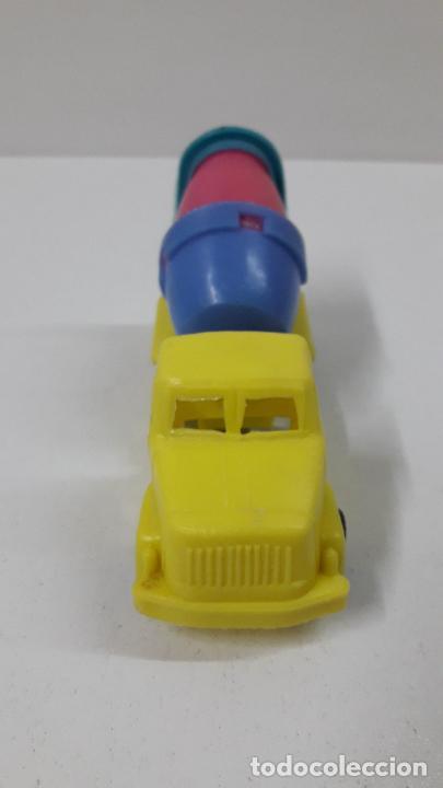 Figuras de Goma y PVC: CAMION HORMIGONERA TAMBOR BASCULANTE . JUGUETE KIOSCO . ORIGINAL AÑOS 70 - Foto 7 - 288327048