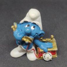Figuras de Goma y PVC: PITUFO TELEFONO - SCHLEICH - PEYO 1980 -. Lote 288333988