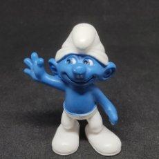 Figuras de Goma y PVC: PITUFO SALUDANDO - SCHLEICH - PEYO 10 - MADE IN GERMANY -. Lote 288334273