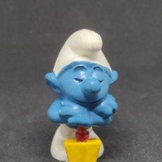 Figuras de Goma y PVC: PITUFO PALA - BULLY - PEYO - W GERMANY -. Lote 288335758