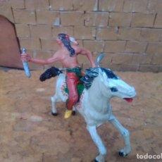 Figuras de Goma y PVC: INDIO Y CABALLO DE JECSAN. Lote 288336643