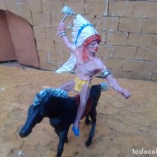 Figuras de Goma y PVC: INDIO Y CABALLO DE COMANSI. Lote 288336893
