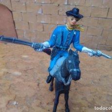 Figuras de Goma y PVC: SOLDADO Y CABALLO DE COMANSI. Lote 288337468