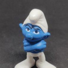 Figuras de Goma y PVC: PITUFO GRUÑON - SCHLEICH - PEYO 10 - MADE IN GERMANY -. Lote 288337763