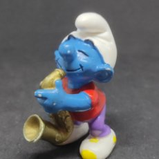 Figuras de Goma y PVC: PITUFO SAXOFON - SCHLEICH - PEYO 95 - SAXO. Lote 288338098