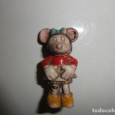 Figuras de Goma y PVC: PECH HERMANOS : FIGURA MINNIE , NOVIA DE MICKEY SERIE WALT DISNEY EN GOMA AÑOS 50 PECH HERMANOS : FI. Lote 288360198
