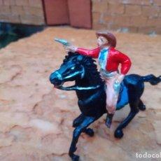 Figuras de Goma y PVC: VAQUERO Y CABALLO DE JECSAN. Lote 288373438