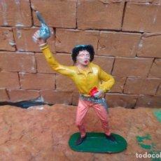Figuras de Goma y PVC: VAQUERO HERIDO DE JECSAN. Lote 288373803