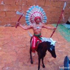 Figuras de Goma y PVC: INDIO Y CABALLO DE JECSAN. Lote 288374198