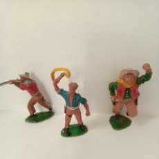 Figuras de Goma y PVC: VAQUEROS LAFREDO GOMA. Lote 288374673