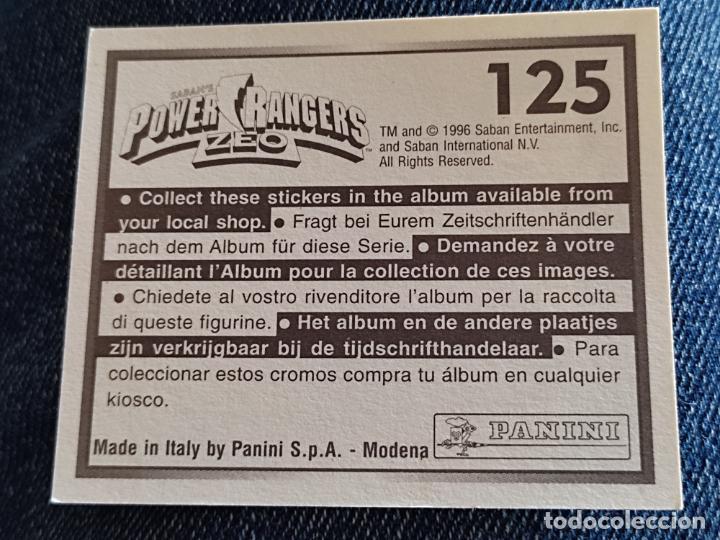 Figuras de Goma y PVC: POWER RANGERS ZEO PANINI CROMO 125 SIN PEGAR NUNCA - Foto 2 - 288404993