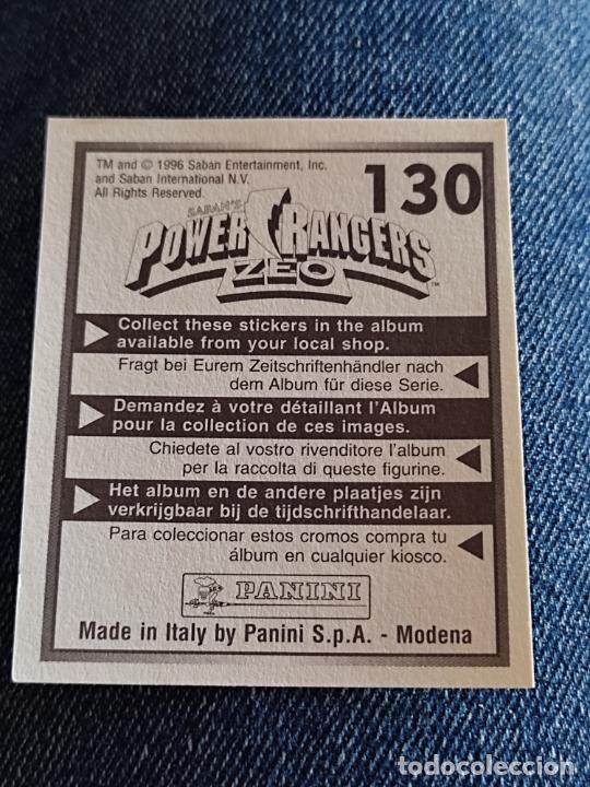 Figuras de Goma y PVC: POWER RANGERS ZEO PANINI CROMO 130 * SIN PEGAR NUNCA - Foto 2 - 288405263