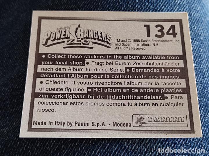 Figuras de Goma y PVC: POWER RANGERS ZEO PANINI CROMO 134 SIN PEGAR NUNCA - Foto 2 - 288405438