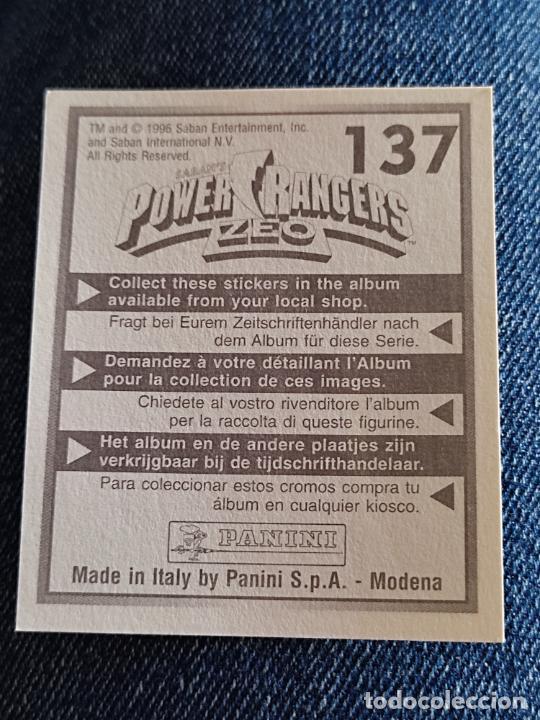 Figuras de Goma y PVC: POWER RANGERS ZEO PANINI CROMO 137 SIN PEGAR NUNCA - Foto 2 - 288405693