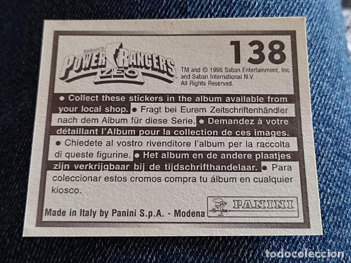 Figuras de Goma y PVC: POWER RANGERS ZEO PANINI CROMO 138 SIN PEGAR NUNCA - Foto 2 - 288405778