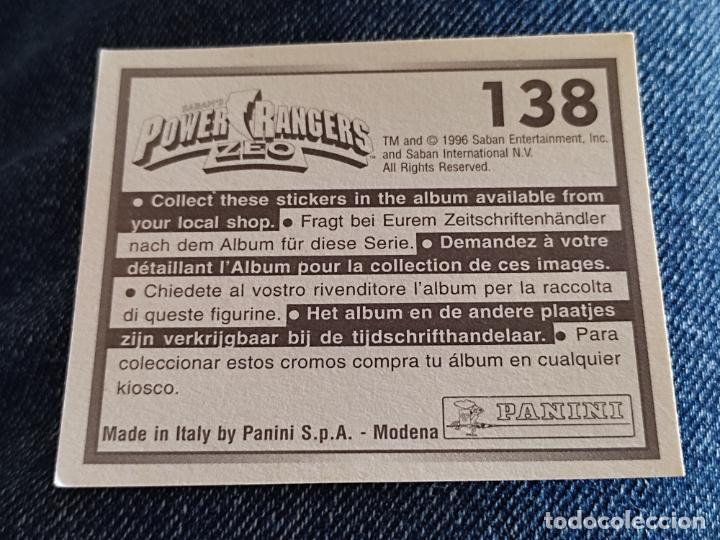 Figuras de Goma y PVC: POWER RANGERS ZEO PANINI CROMO 138 * SIN PEGAR NUNCA - Foto 2 - 288405823