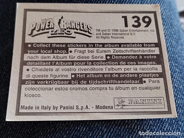 Figuras de Goma y PVC: POWER RANGERS ZEO PANINI CROMO 139 SIN PEGAR NUNCA - Foto 2 - 288405943