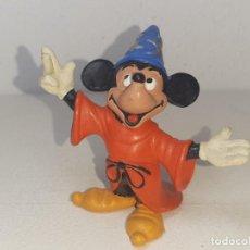 Figuras de Goma y PVC: COMICS SPAIN : ANTIGUA FIGURA DE GOMA MAGO DE LA PELICULA FANTASIA MICKEY MOUSE WALT DISNEY AÑOS 80. Lote 288465273