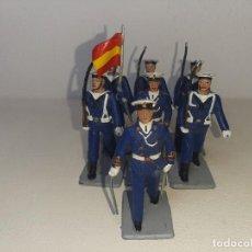 Figuras de Goma y PVC: REAMSA - GOMARSA SOLDIS : ANTIGUO LOTE DE 7 SOLDADOS DE GOMA DESFILE DE INFANTERIA DE MARINA AÑOS 70. Lote 288601673