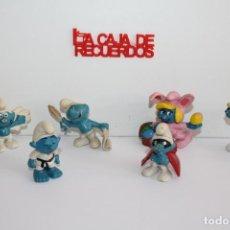 Figuras de Goma y PVC: PITUFOS DE GOMA PEYO. Lote 288631773