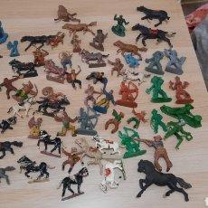 Figuras de Goma y PVC: ¡¡¡GRAN LOTE!!!VAQUEROS E INDIOS JECSAN,PECH,REAMSA,GOMARSA ETC...AÑOS 50/60.. Lote 288668828